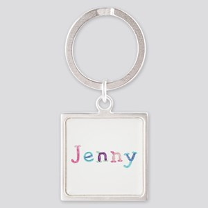 Jenny Princess Balloons Square Keychain