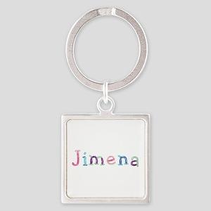Jimena Princess Balloons Square Keychain