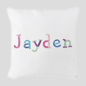Jayden Princess Balloons Woven Throw Pillow