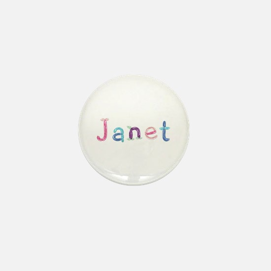 Janet Princess Balloons Mini Button