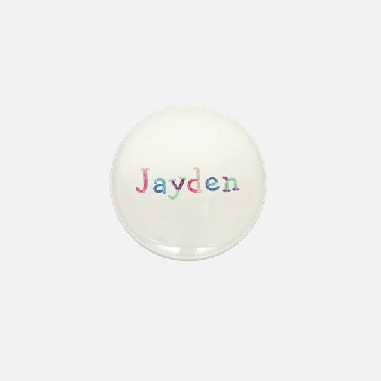 Jayden Princess Balloons Mini Button