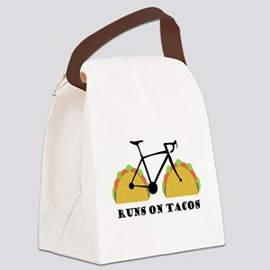 Runs On Tacos Canvas Lunch Bag