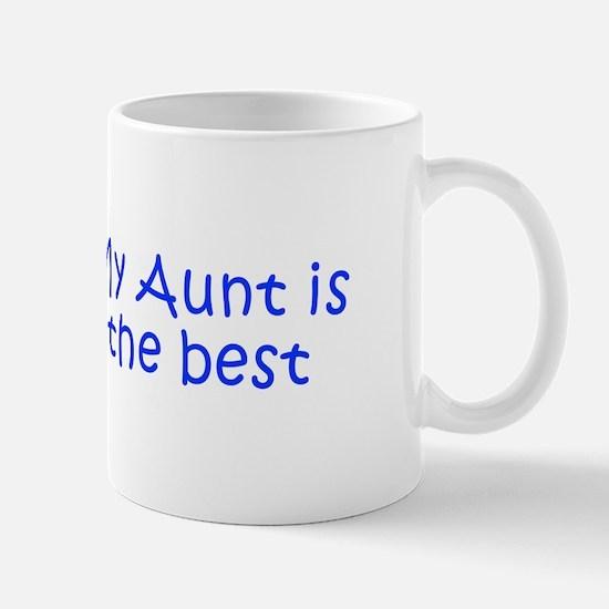 My Aunt is the best-Kri blue 350 Mugs