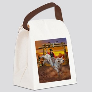 Ride 'em Cowboy Canvas Lunch Bag