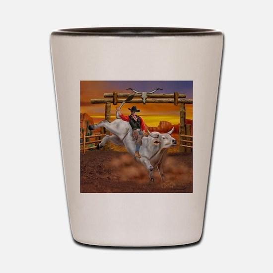 Ride 'em Cowboy Shot Glass