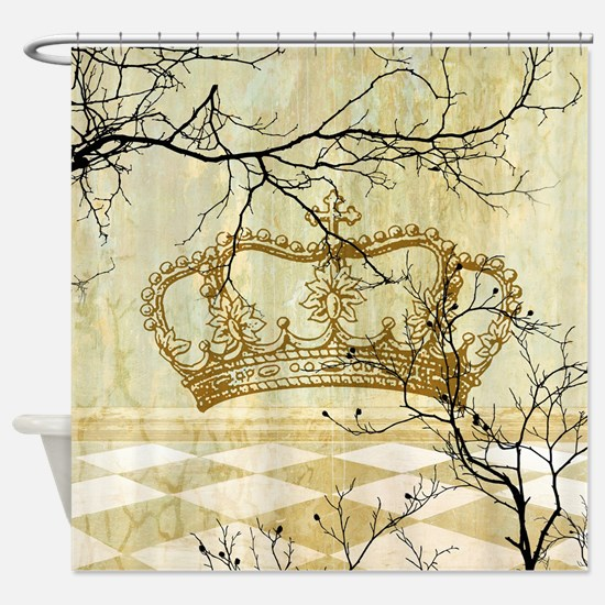 Unique Crown Shower Curtain