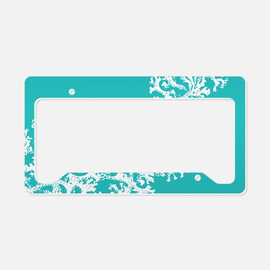 Cute Coral License Plate Holder
