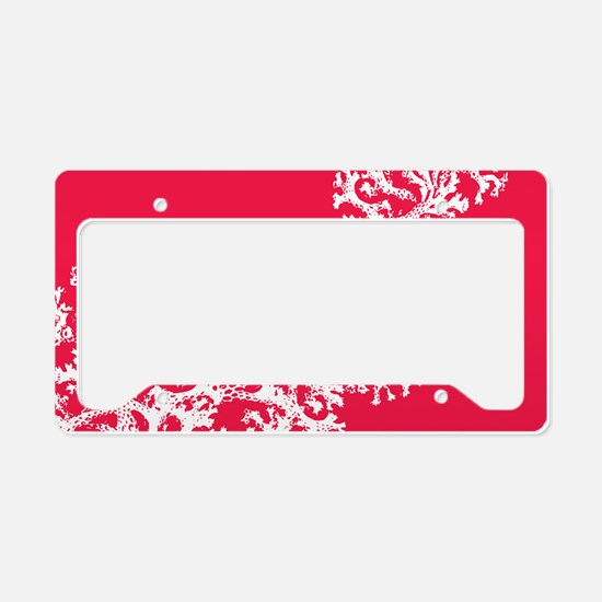 Funny Coral License Plate Holder