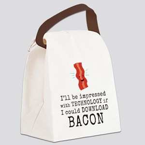 Bacon Download Canvas Lunch Bag