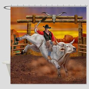 Ride 'em Cowboy Shower Curtain