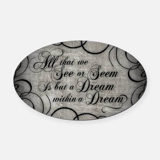 Cute Allen quote Oval Car Magnet