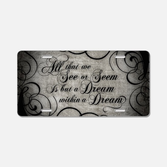 Cute Poem Aluminum License Plate