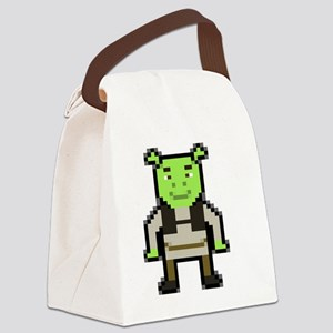 Pixel Shrek Canvas Lunch Bag
