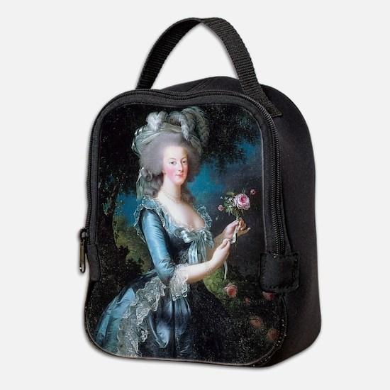 Cute Blue roses france shutters Neoprene Lunch Bag