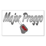 USAF Major Preggo ver2 Rectangle Sticker