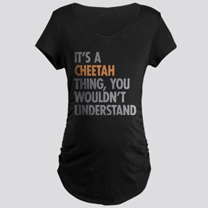 Cheetah Thing Maternity T-Shirt