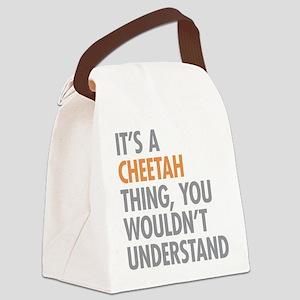 Cheetah Thing Canvas Lunch Bag