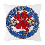 USS HISSEM Woven Throw Pillow