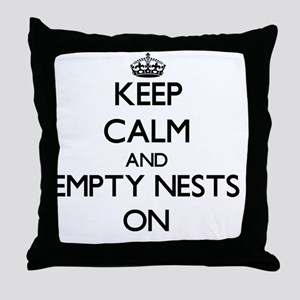 Keep Calm and Empty Nests ON Throw Pillow