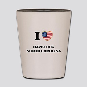 I love Havelock North Carolina Shot Glass