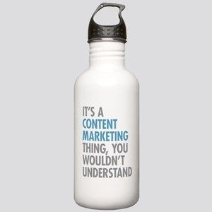 Content Marketing Thin Stainless Water Bottle 1.0L