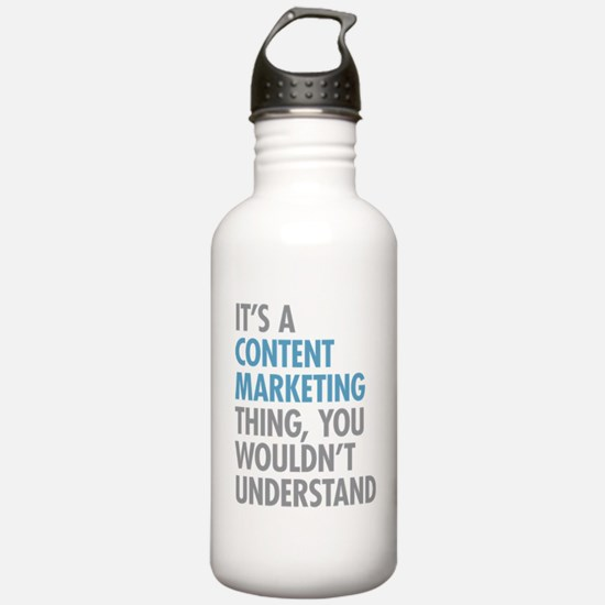 Content Marketing Thin Water Bottle