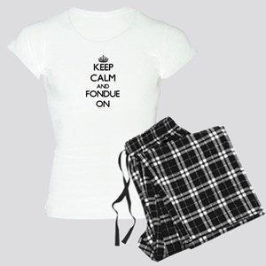 Keep Calm and Fondue ON Women's Light Pajamas