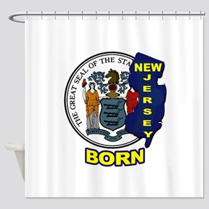 NEW JERSEY BORN Shower Curtain