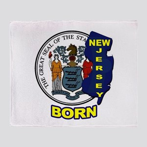 NEW JERSEY BORN Throw Blanket