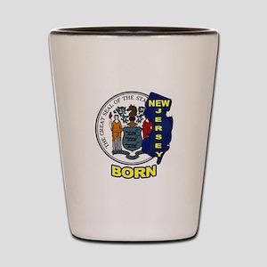 NEW JERSEY BORN Shot Glass