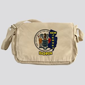 NEW JERSEY BORN Messenger Bag