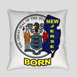 NEW JERSEY BORN Everyday Pillow