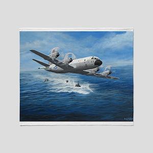 US Navy P-3C Orion Throw Blanket