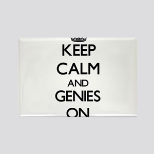 Keep Calm and Genies ON Magnets
