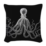 Octopus Woven Throw Pillow