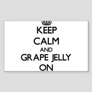 Keep Calm and Grape Jelly ON Sticker