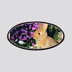 Bunny in Flowers Patch