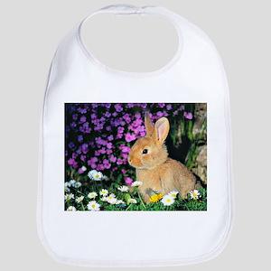 Bunny in Flowers Bib