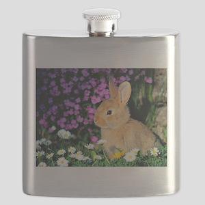 Bunny in Flowers Flask