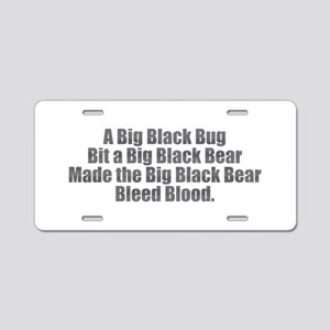 Big Black Bug Aluminum License Plate