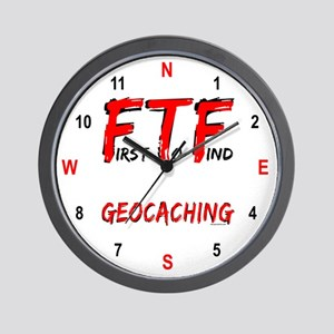 Four Directions FTF Geocaching Wall Clock