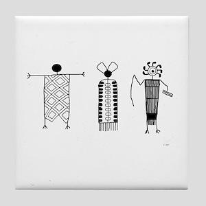 Petroglyph Peoples Tile Coaster