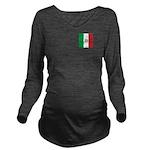 Team Italy Monogram Long Sleeve Maternity T-Shirt