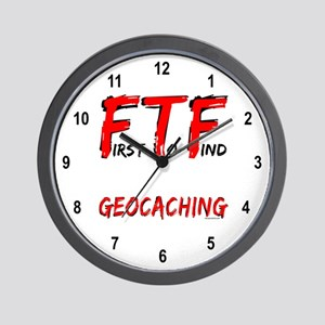 FTF Geocaching Wall Clock