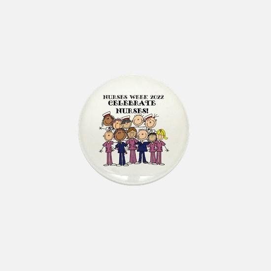 Stick Figure Nurse Week 2016 Mini Button