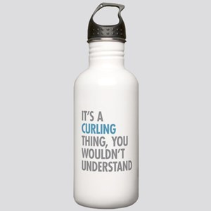 Curling Thing Stainless Water Bottle 1.0L