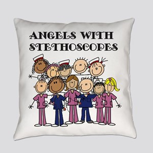 Angels With Stethoscopes Everyday Pillow
