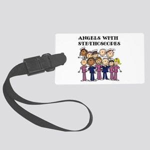 Angels With Stethoscopes Large Luggage Tag