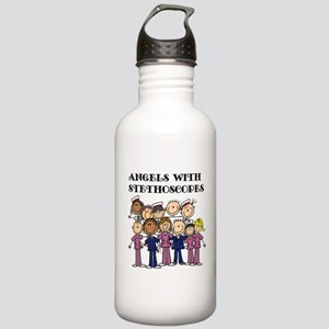 Angels With Stethoscop Stainless Water Bottle 1.0L