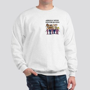 Angels With Stethoscopes Sweatshirt
